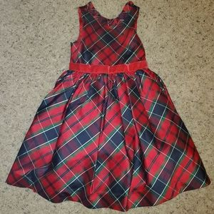 Janie and Jack Crimson Plaid Dress